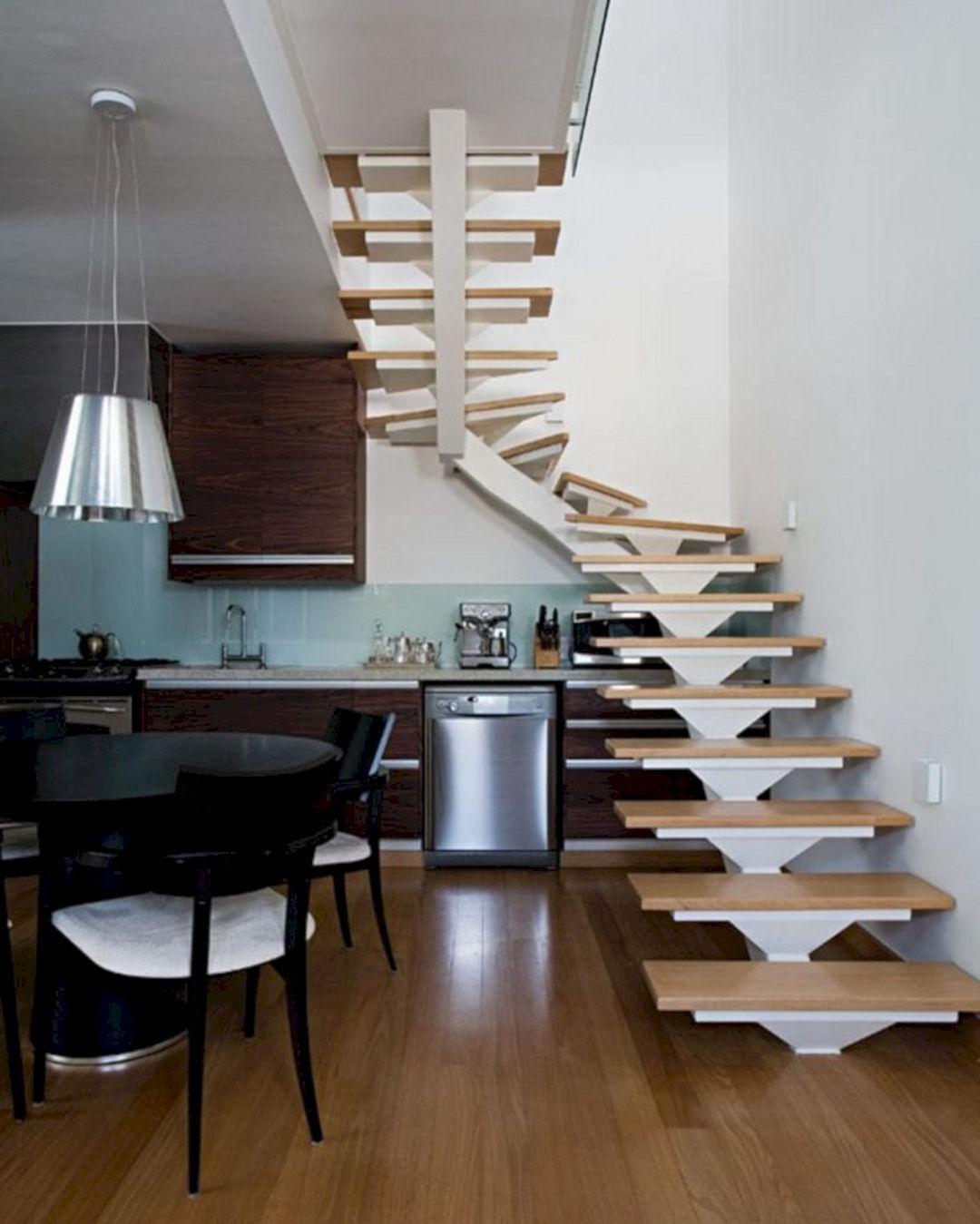 10 Minimalist Kitchen Set Design For Under Stairs You Need