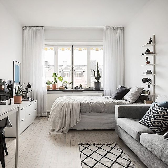15 Best Bedroom Living Room Combo Images On Pinterest Homes Small Apartments And Small Spaces