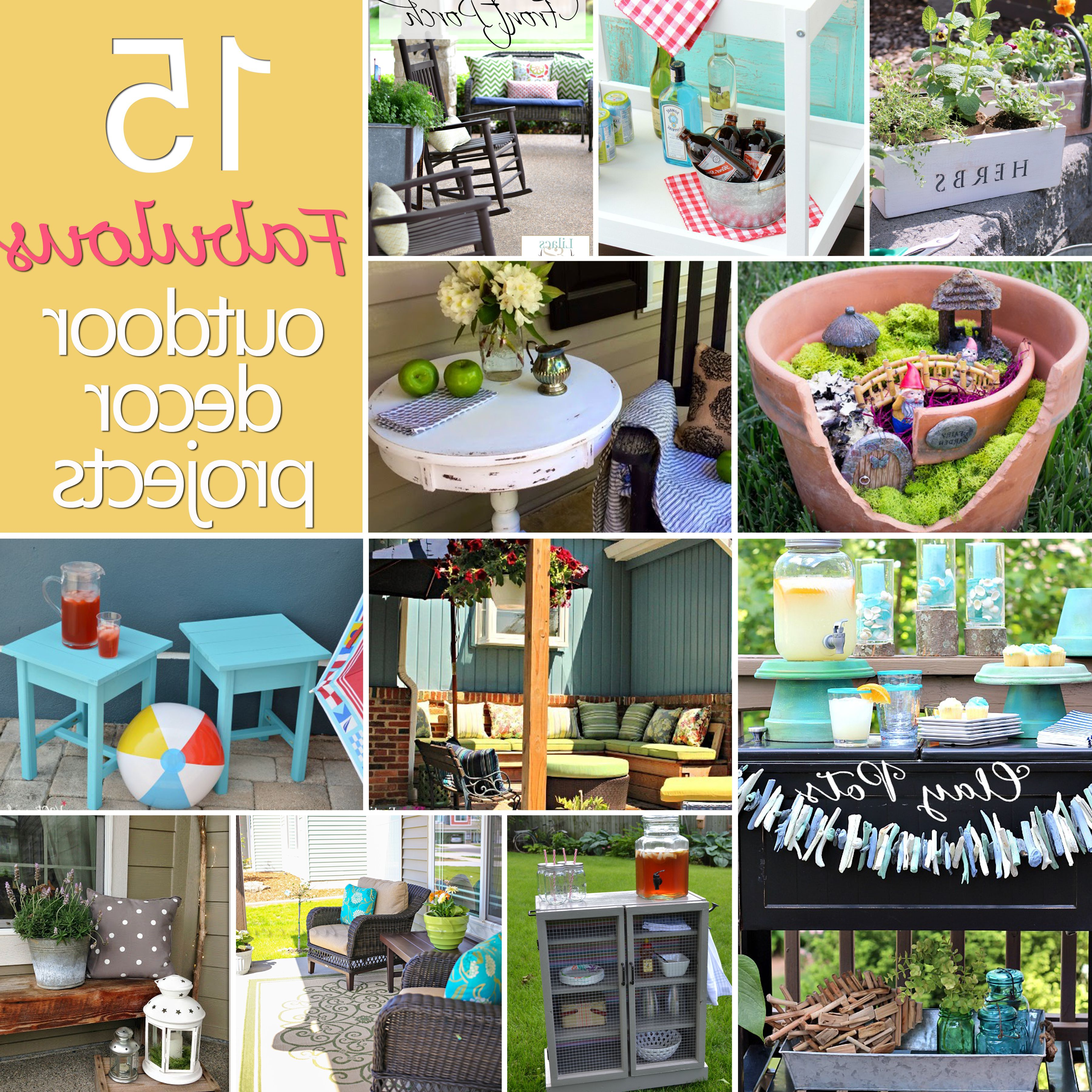15 Fabulous Outdoor Decor Projects Diy Challenge Features