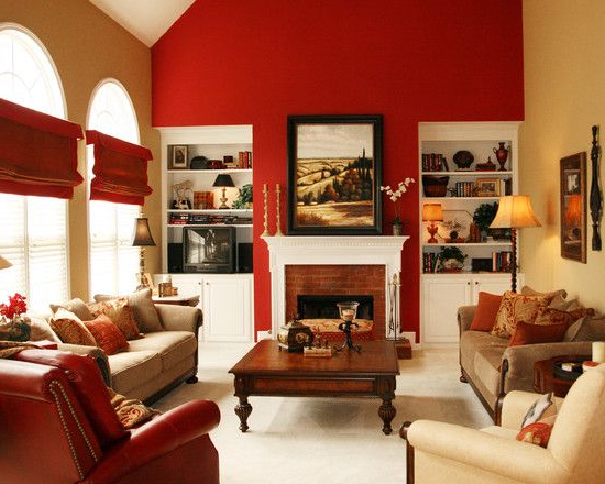 15 Red Themed Living Room Designs With Images Living