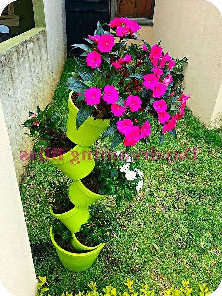 15 Wonderfull Diy Stacked Flower Pots