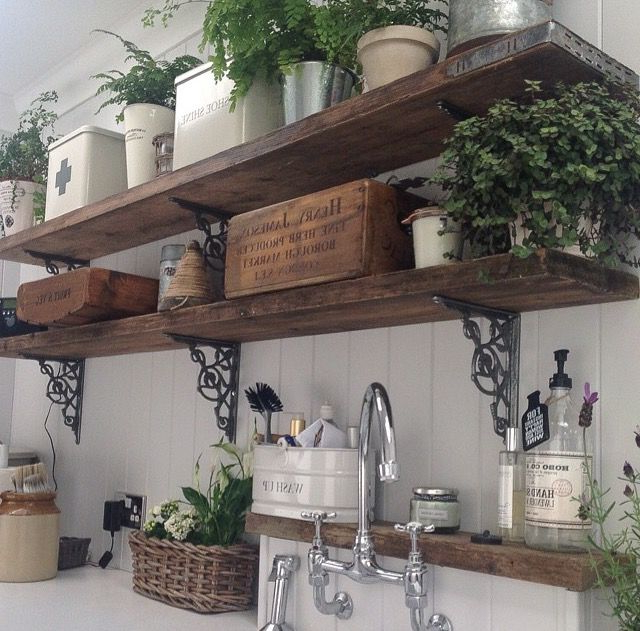 19 Amazing Kitchen Decorating Ideas Wooden Shelves