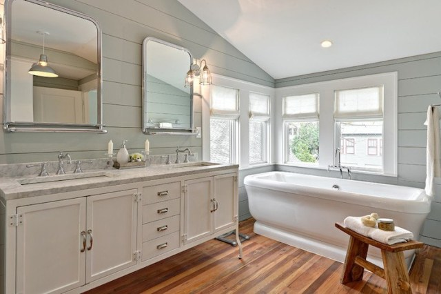 20 Amazing Bathroom Designs With Shiplap Walls Housely