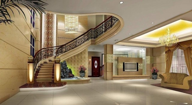 20 Amazing Luxury Villa Entrances And Staircases