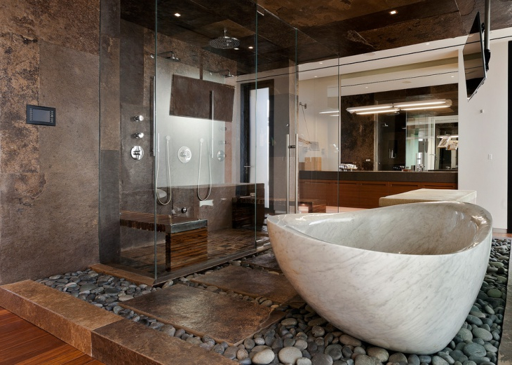 20 Brown Bathroom Designs Decorating Ideas Design