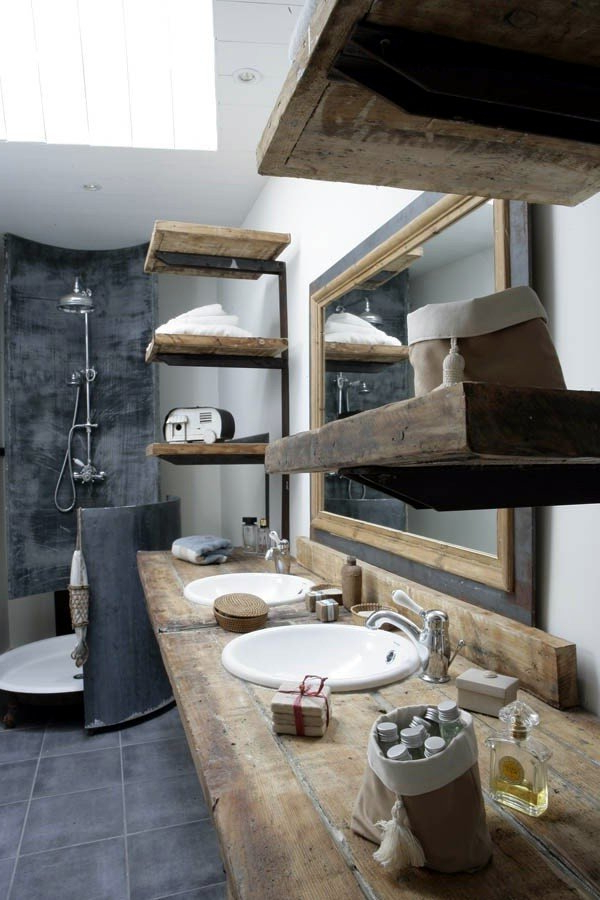 20 Ideas For Rustic Bathroom Bathroom Furniture Made Of