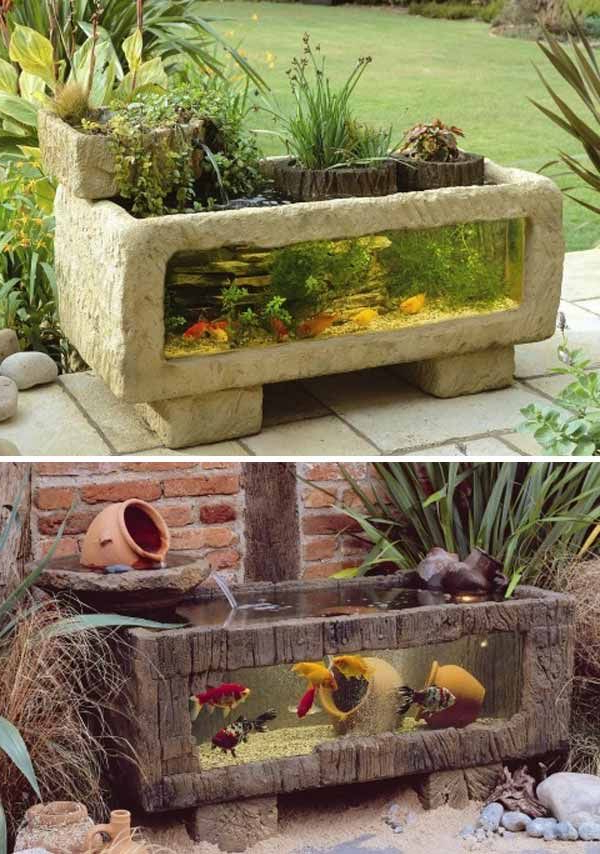 21 Small Garden Backyard Aquariums Ideas That Will