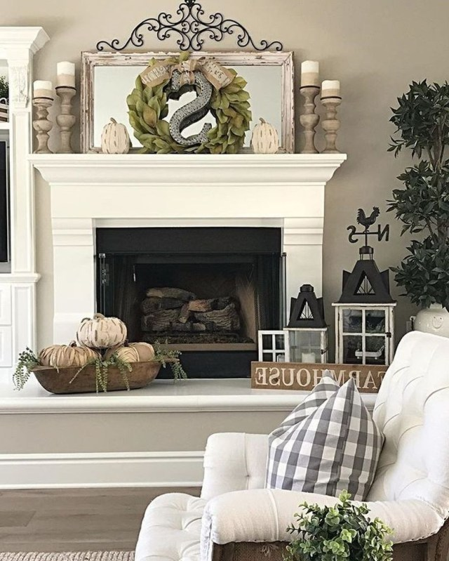 23 Amazing Fall Mantel Decoration To Copy Right Now In