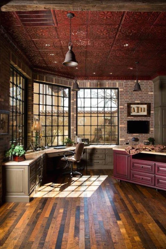 25 Awesome Rustic Home Office Designs Rustic Home