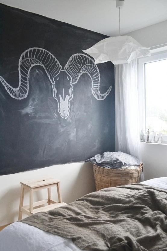 25 Cool Chalkboard Bedroom Dcor Ideas To Rock Digsdigs