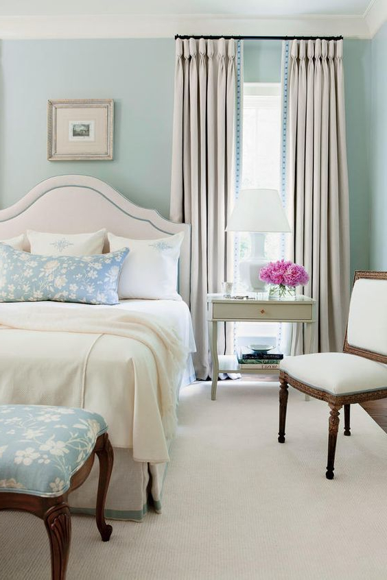30 Relaxing Powder Blue Bedrooms Blue Master Bedroom