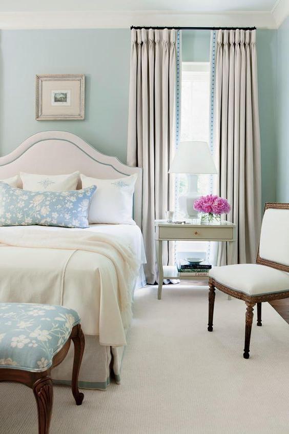30 Relaxing Powder Blue Bedrooms Blue Master Bedroom