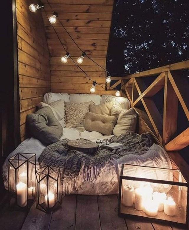 30 Ultra Cozy Design Ideas For Fall Warmth Comfortable Patio Furniture Apartment Balcony