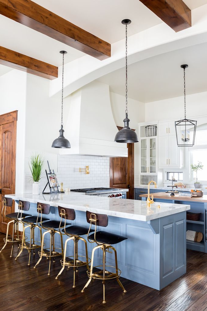 326 Best Blue And White Kitchens Images On Pinterest Modern Farmhouse Kitchens Dream Kitchens