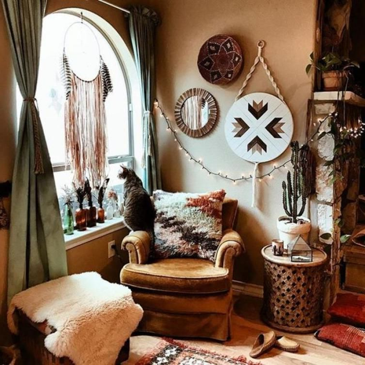 45 Pretty Bohemian Style Decoration Ideas For Your Living