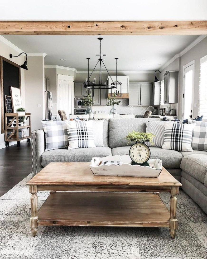 46 Cozy Farmhouse Living Room Decor Ideas That Make You