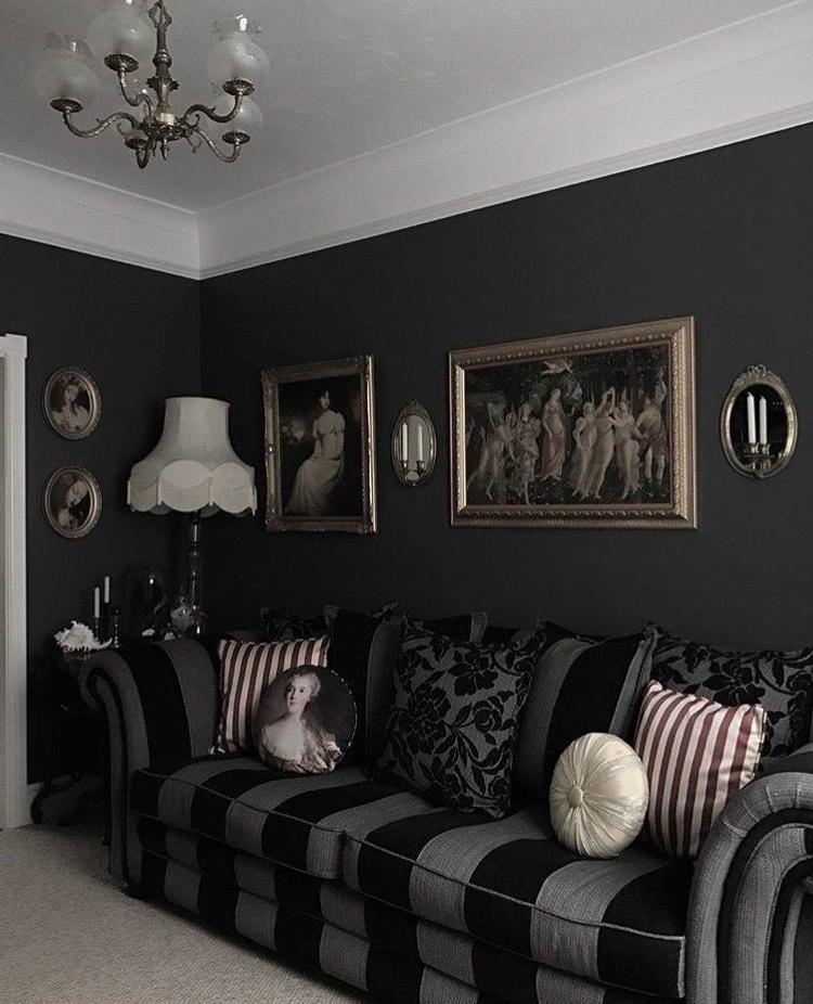 47 Captivating Goth Living Room Ideas For Inspiration