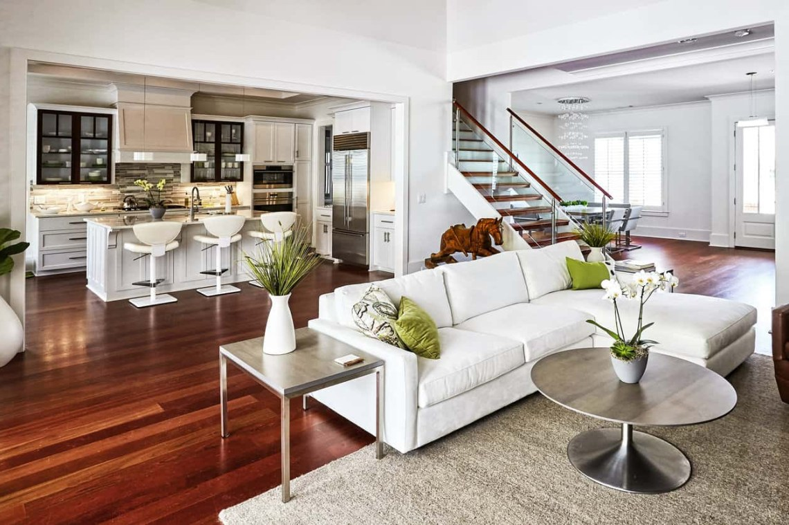 47 Open Concept Kitchen Living Room And Dining Room Floor