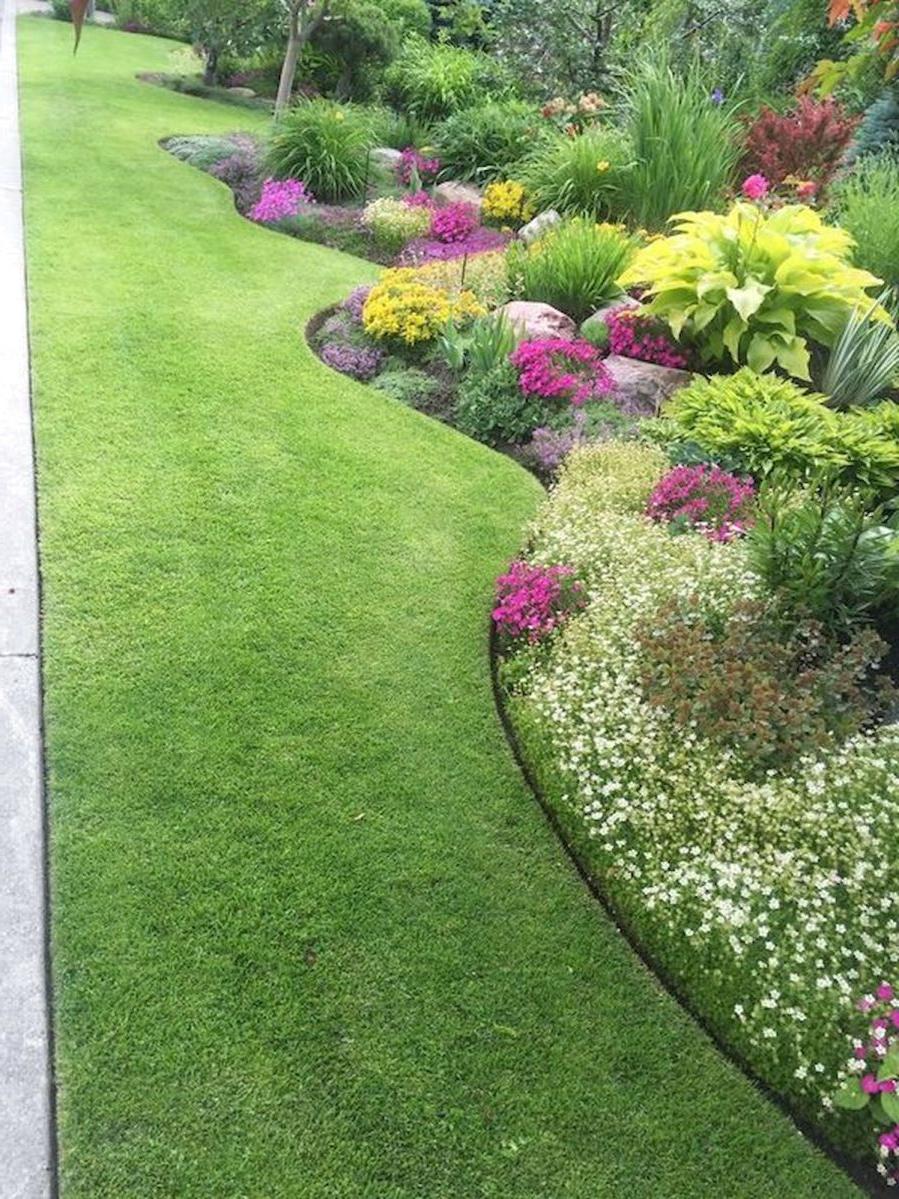 48 Beautiful Flower Garden Design Ideas Front Yard