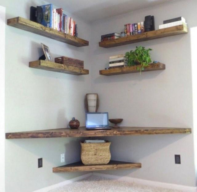 49 Amazing Diy Floating Wall Corner Shelves Ideas Homishome