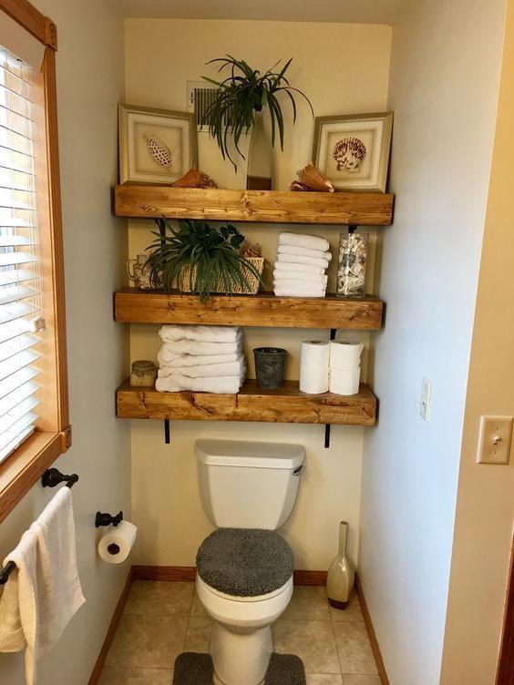 50 Amazing Farmhouse Small Bathroom Design Ideas