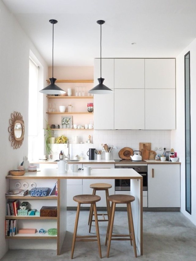 50 Amazing Small Apartment Kitchen Decor Ideas 13