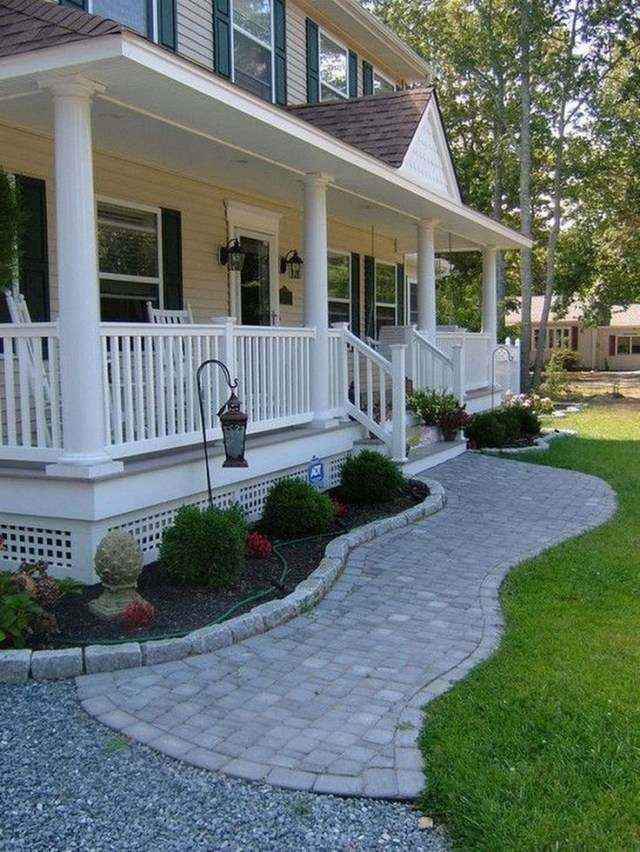 54 Beautiful Landscape Ideas For Front Of House 50 Front