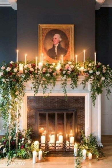 55 Amazing Christmas Fireplace Mantel Decoration Ideas