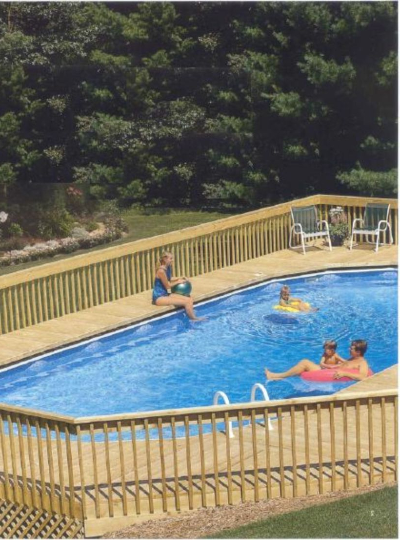 60 Cool Oval Pool Design Ideas Pool Deck Plans Above