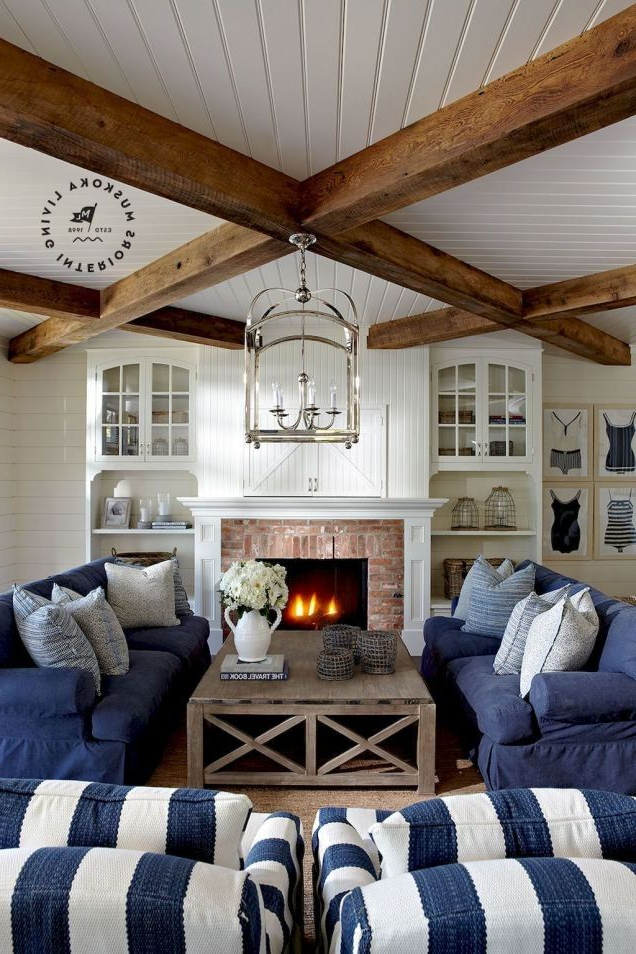 64 Amazing And Clean Coastal Living Room Decorating Ideas