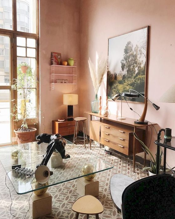 7 Pink And Brown Interiors The Nostalgic And Calm Combo For This Season Dco Maison