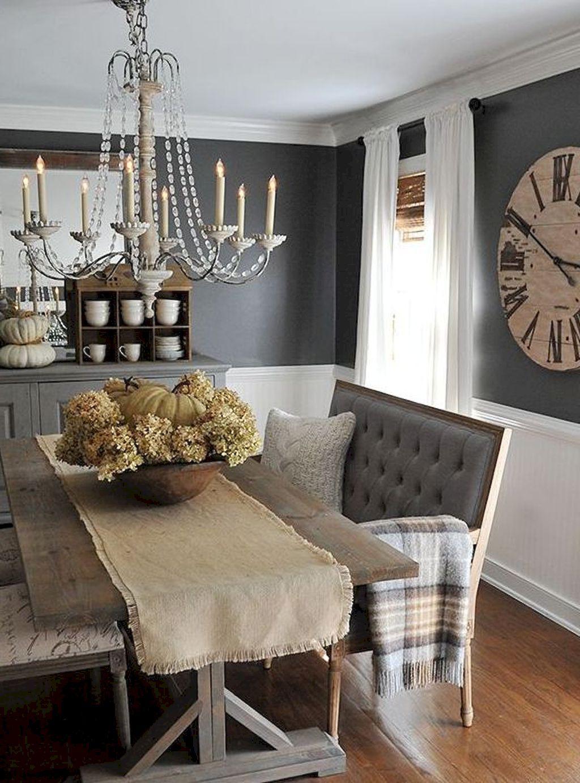 70 Gorgeous Modern Farmhouse Dining Room Decor Ideas