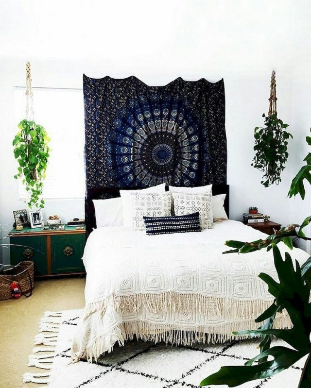 89 Cozy Romantic Bohemian Style Bedroom Decorating Ideas Page 6 Of 90