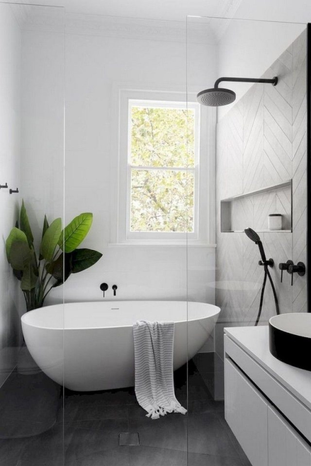 92 Beautiful Farmhouse Bathroom Remodel Decor Ideas
