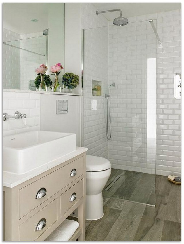 99 Small Master Bathroom Makeover Ideas On A Budget 56