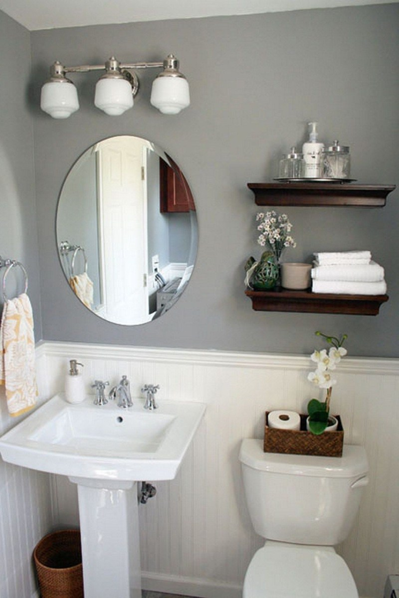 99 Small Master Bathroom Makeover Ideas On A Budget 70