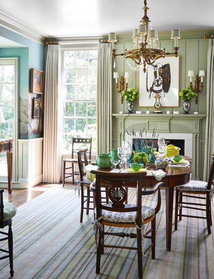 A Classically Pretty Home Cathy Kincaid Traditional Dining Rooms Elegant Dining Room