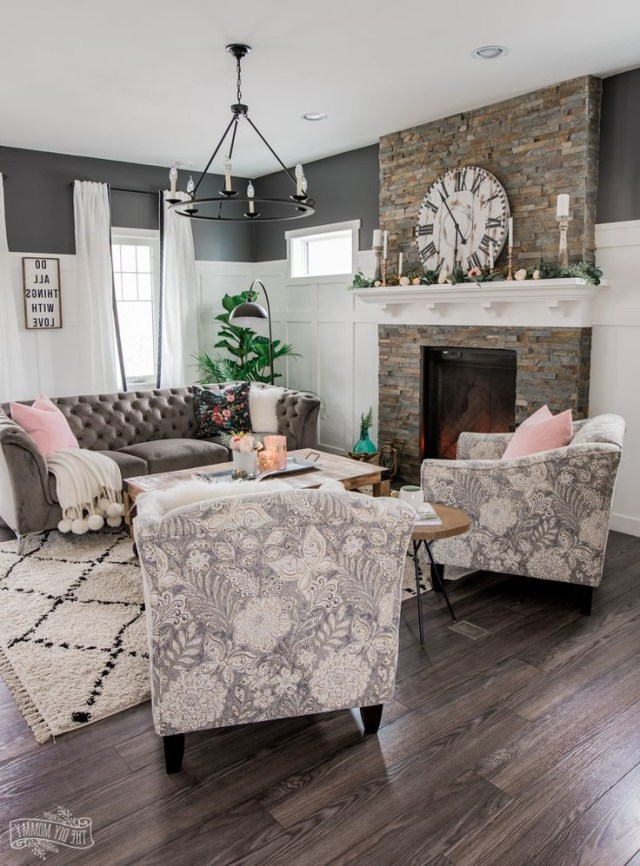 A Cozy Rustic Glam Living Room Makeover For Fall Glam
