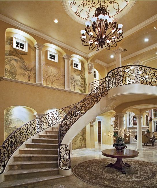 A Look At Some Grand Foyers From Houzz Staircase