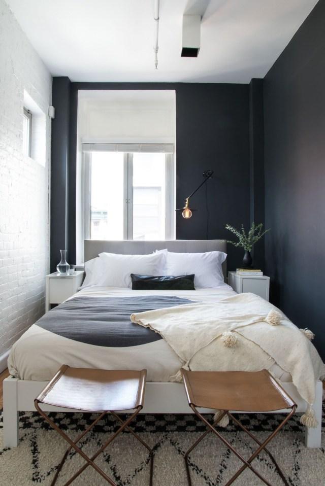 A Striking Artful Soho Loft Tiny Bedroom Design Small