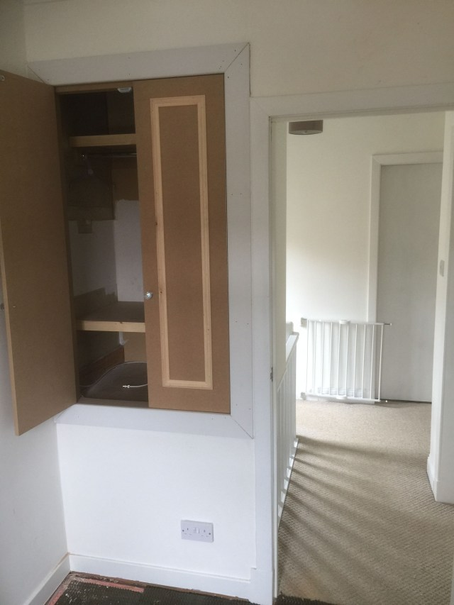 Above Stairs Small Bas Wardrobe With Hanging And Shelfs