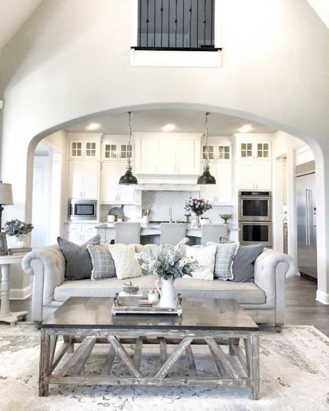 Adorable 27 Modern Farmhouse Living Room Decor And Design