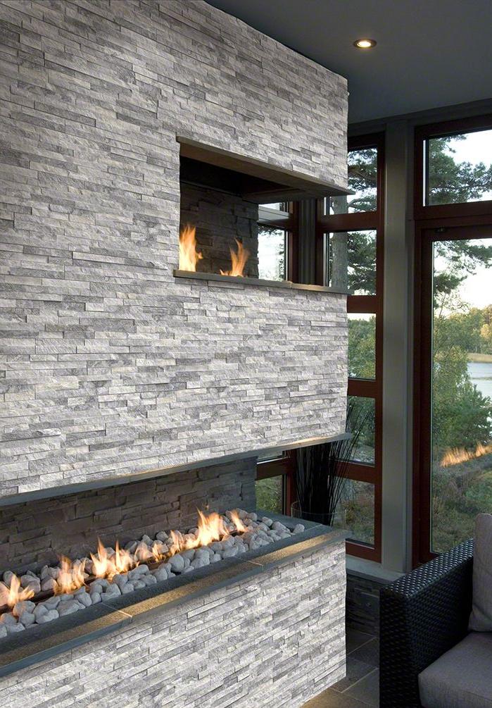 Alaska Gray Stacked Stone Stacked Stone Panels Marble