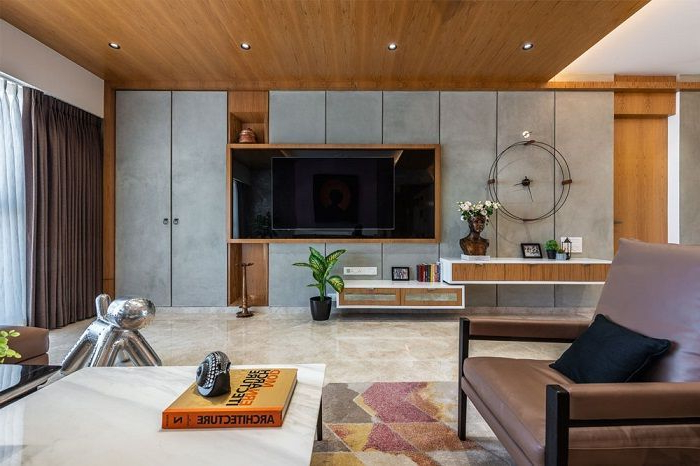An Art Gallery Like Home Contemporary Tv Units Living