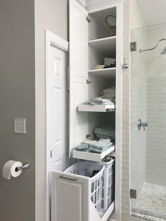 Bathroom Cabinet Ideas Tall Built In Bathroom Cabinet For