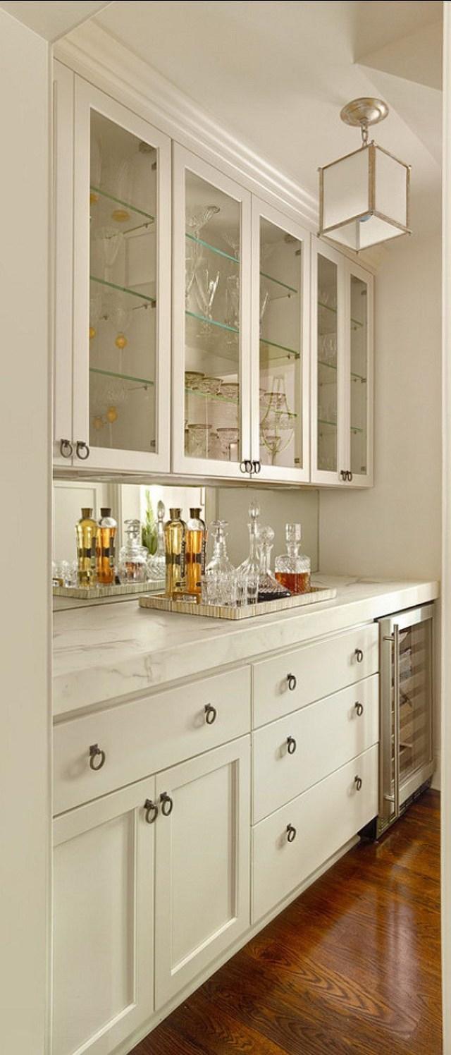 Beautiful Bar Buffet Idea With Quartz Counter To Mimic