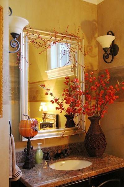 Beautiful Bathroom Inspiration Fall Decorating Ideas In