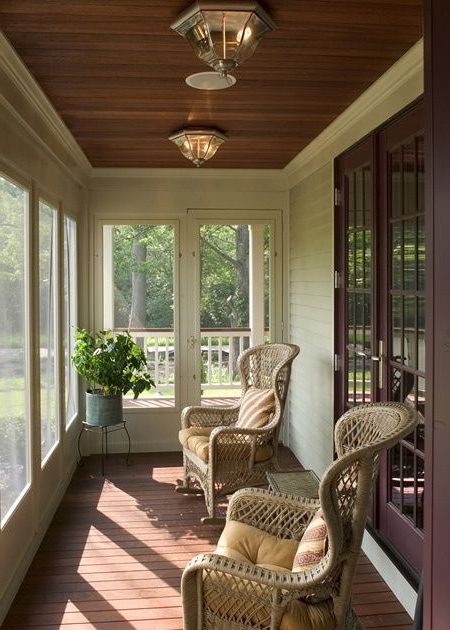Beautiful Enclosed Porchlove The Ceiling House With