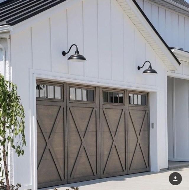 Beautiful Garage Doors Love The Detail The Windows The