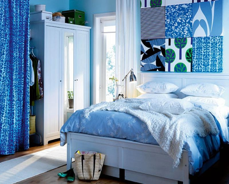 Bed Rooms With Blue Color Luxury Blue Aquatic Paint